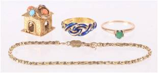 Four Pieces of Gold Jewelry