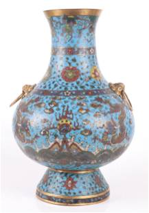 A Large Chinese Cloisonne Vase