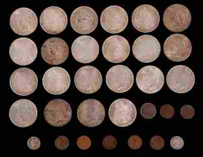 A Group of American Coins, Silver Dollars, Etc...