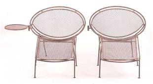 A Pair of Salterini Wrought Iron Lounge Chairs