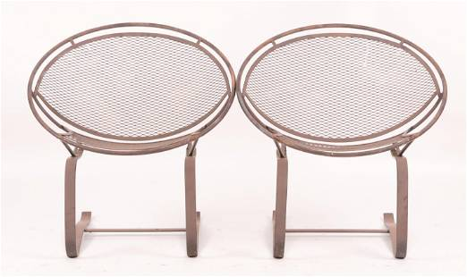 A Pair of Salterini Wrought Iron Spring Chairs