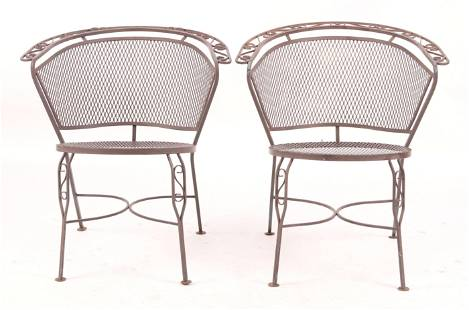 A Pair of Salterini Wrought Iron Chairs