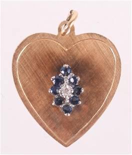 A 14k Gold Heart form Pendant