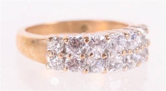 A 10k Gold and Diamond Ring