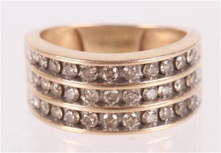 A 14k Gold and Diamond Cocktail Ring