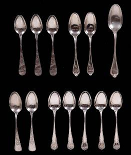 A Group of Sterling Teaspoons