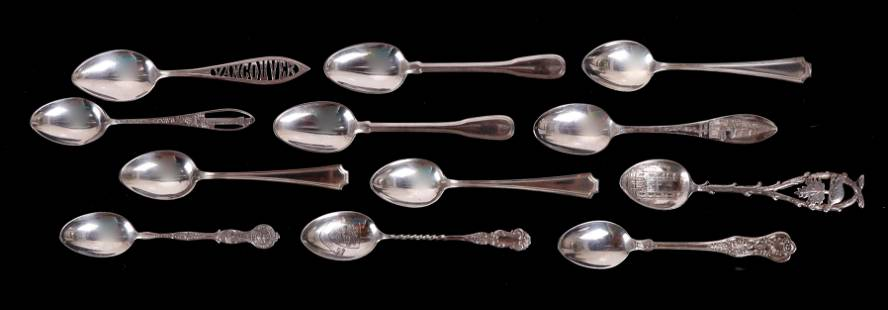 A Group of Sterling Silver Demitasse Spoons