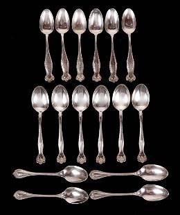 A Set of Sixteen Sterling Teaspoons
