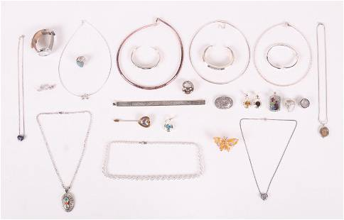 A Group of Modern Sterling Jewelry