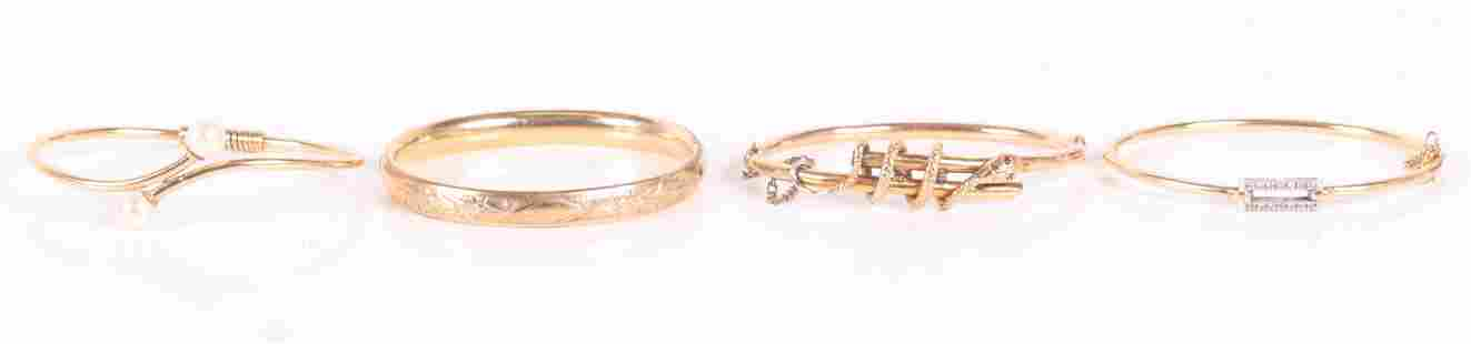 Four Gold Bracelets