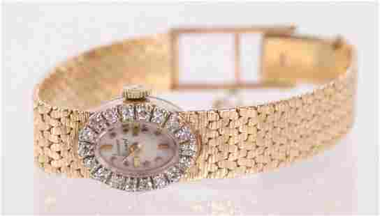 A Lucien Piccard 14k Gold Ladies Watch