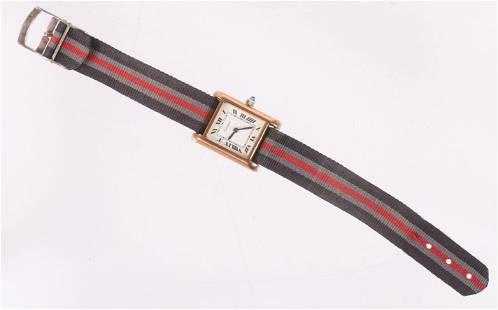 Cartier 18K Electroplate Wristwatch