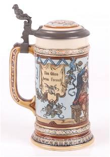 Mettlach # 1932 Drinking Cavaliers Beer Stein