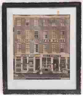 Mid 19th Century Lithograph, American Street Scene