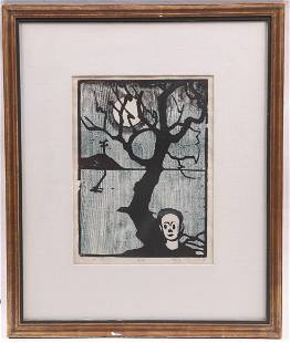 A Woodblock Print dated 1953