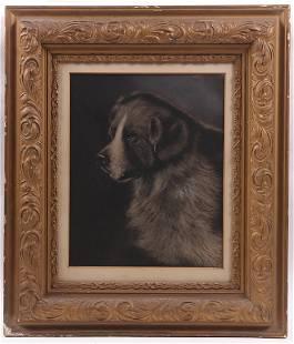 A Pastel Portrait of a Dog, 19th Century