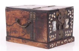 A Chinese Hardwood Jewelry Box