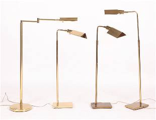 Four Brass Floor Lamps by Koch and Lowy