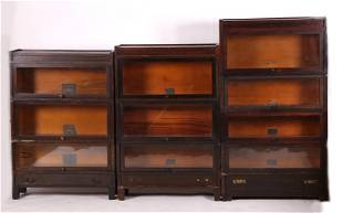 Three Barrister Bookcases