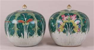 A Pair of Chinese Cabbage Leaf Jars