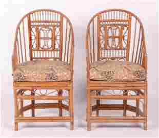 A Pair of Chinese Bamboo Armchairs