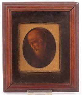 A Portrait Miniature of a Saint