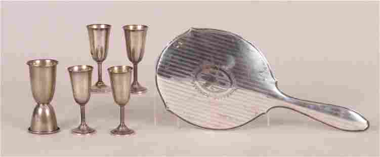 A Group of Sterling Items, Cordials, Etc...