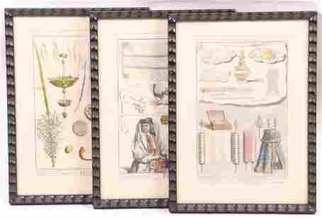 Bernard Picart (1673–1733) Three Prints, Judaica