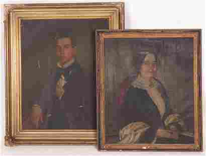A Pair of 19th Century American Portraits