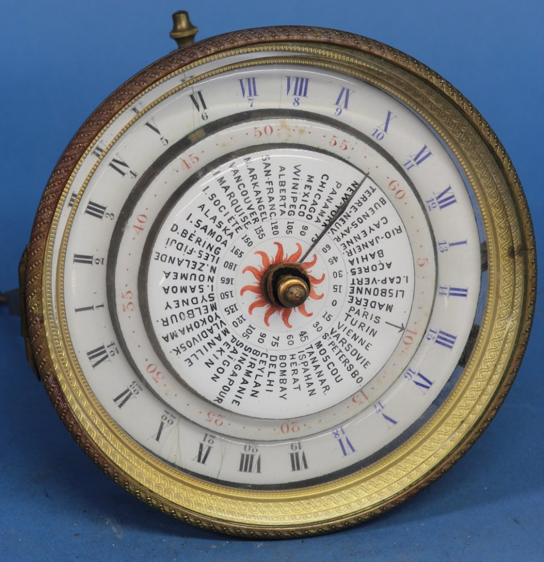 Late 19th century French World Time Movement