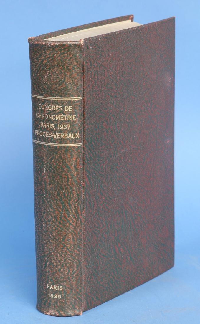 Congres de Chronometrie Paris, 1937