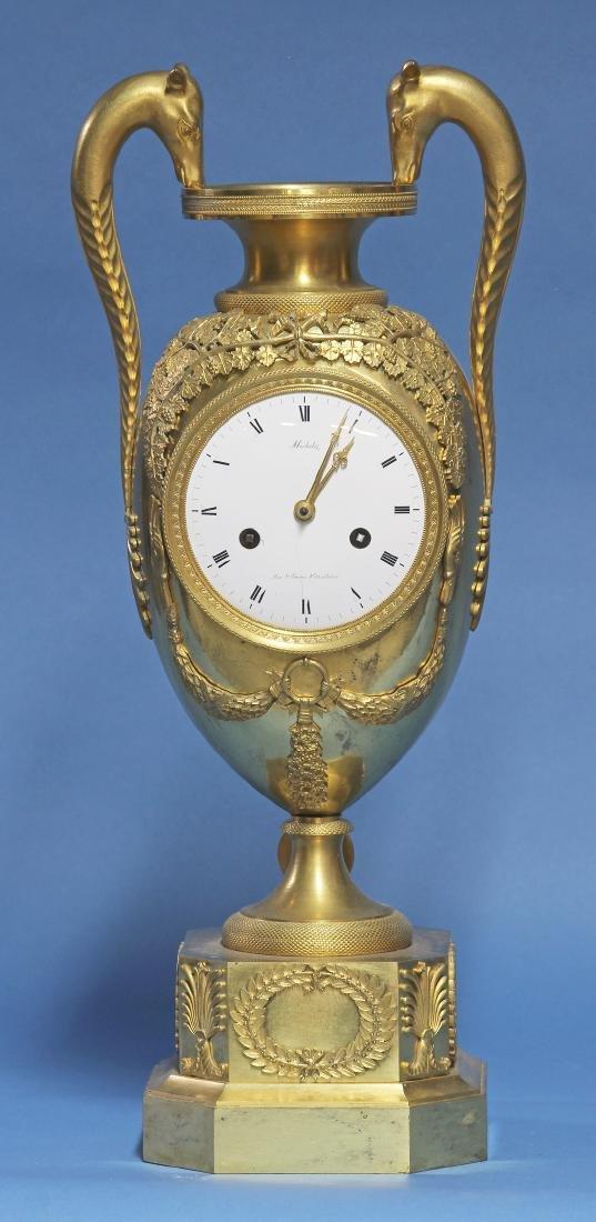 Large Early 19th century Ormolu Urn Clock.