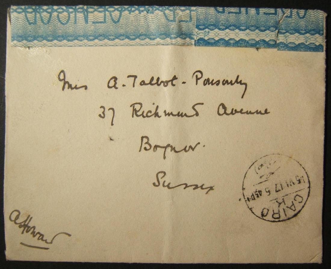 6/1917 WWI unfranked British military mail to UK via