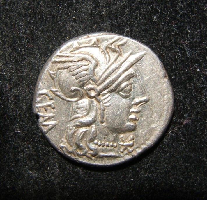 Roman Republic Aburius Geminus ancient AR Denarius coin