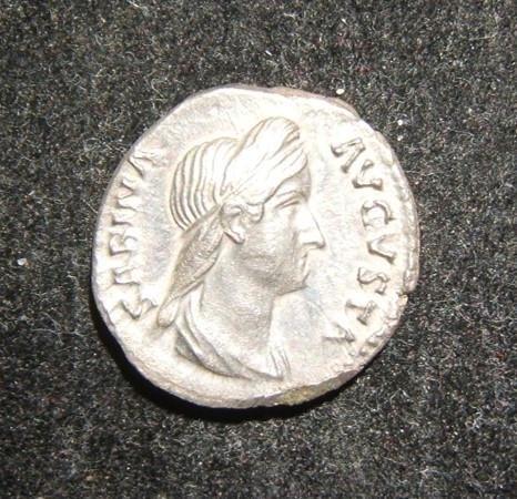 Roman Imperial Sabina Augusta ancient AR Denarius coin