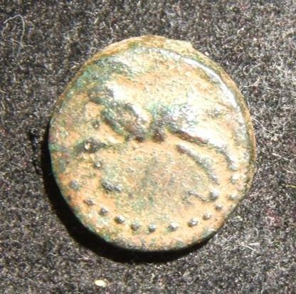 Ancient Egyptian Pharaoh Nektanebo III coin 361-343 BCE