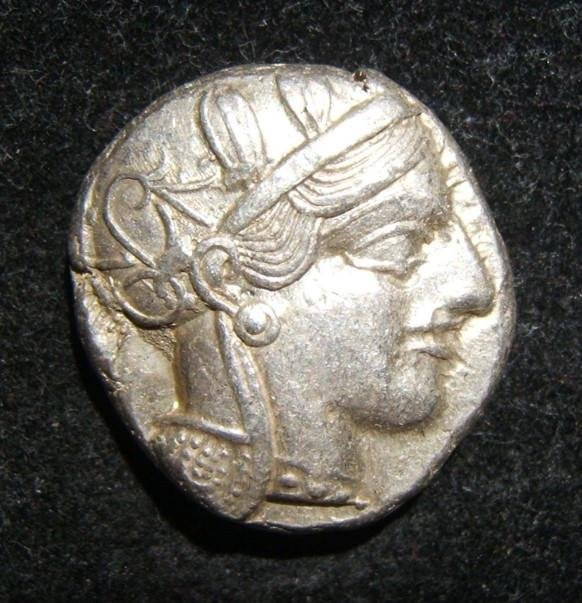 Greek Attica Athens AR Tetradrachm coin 449-413 BCE