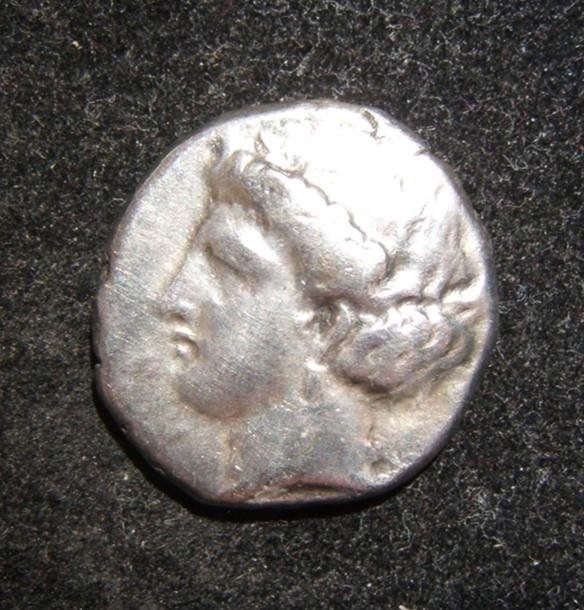 Greek Metapontum Stater/Nomos ancient coin Barley/Ivy