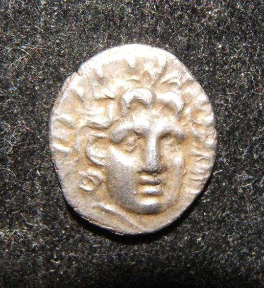 Ancient Greece Rhodes 125-88 BCE AR Hemidrachm coin