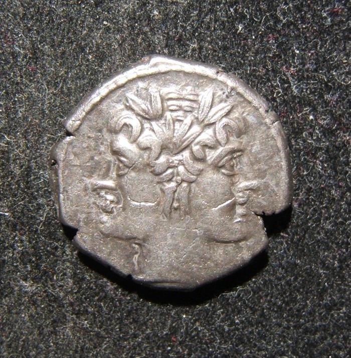 Roman Republic ancient AR Didrachm/Quadrigatus coin,