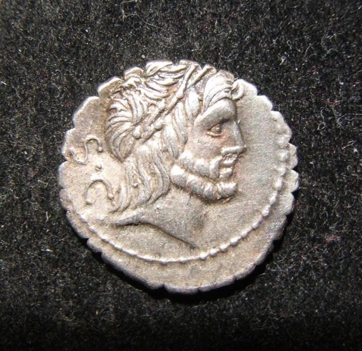 Roman Republic Antonius Balbus ancient AR serrate