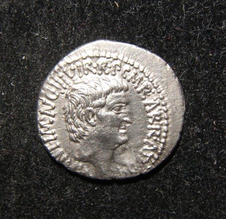 Roman Republic Mark Antony/Octavian ancient AR Denarius