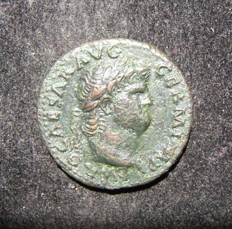 Roman Empire 54-68 AD Nero ancient AE As coin Janus