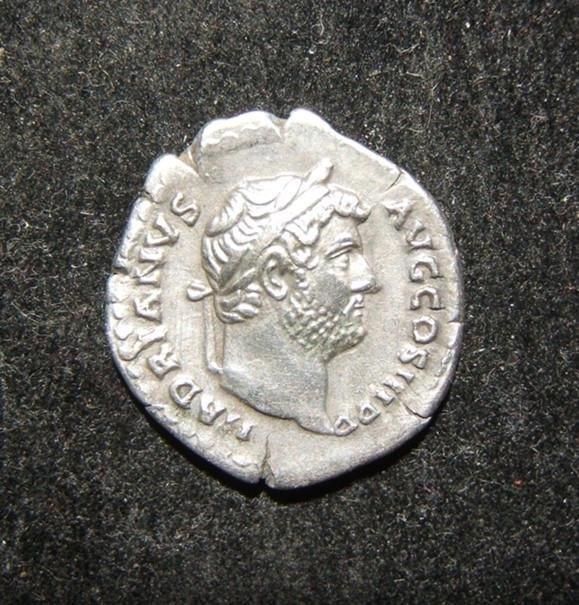 Roman Empire Hadrian ancient AR Denarius retrograde