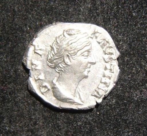 Roman Imperial Diva Faustina Senior AR Denarius ancient