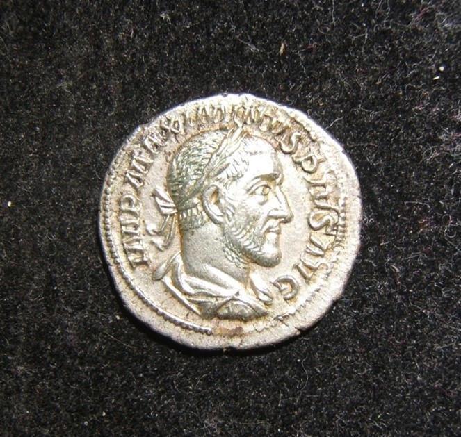 Roman Imperial Maximinus I ancient AR Denarius