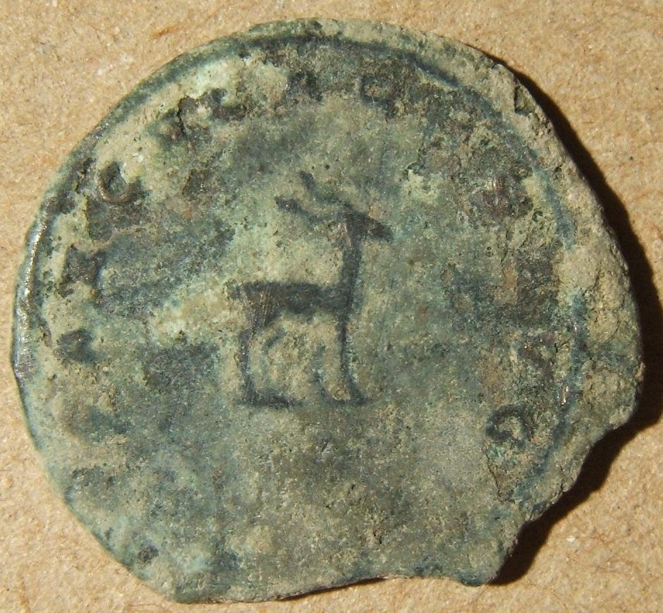 Ancient Roman/Syrian silvered Antoninianus Gallienus