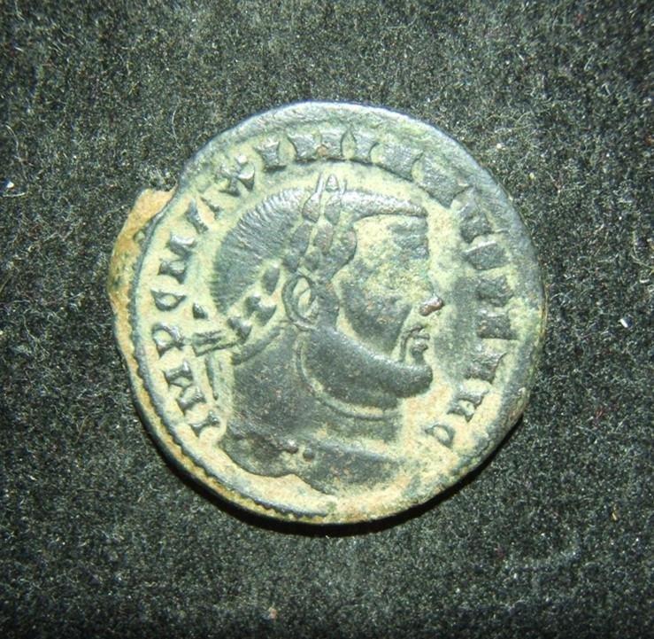 Roman Imperial ancient Maximianus Follis coin, Ticinum;