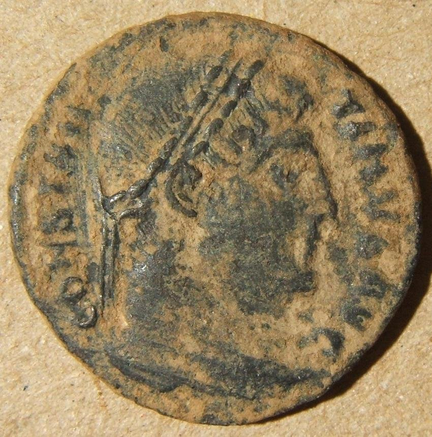 Roman imperial Thessalonica Constantine I ancient AE