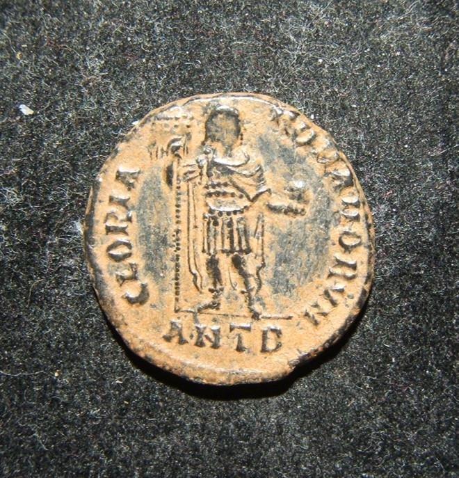 Roman Imperial Arcadius AE2 ANTB ancient coin, Antioch;